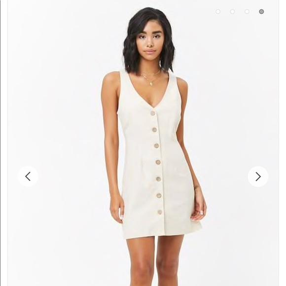 638c8b141cd Forever 21 Dresses   Skirts - Forever 21 Linen Button Front Dress